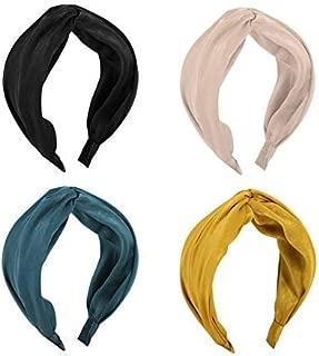 ZUEE Knot Headband Wide Twist Turban Cute Elastic Hairband Hair Hoop for Women Girls, 4 pack
