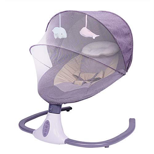 MOZX Sillas Mecedoras para Bebé, 3 Velocidades Y 4 Modos De Temporización,...