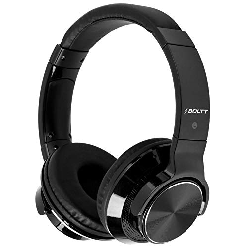 Fire-Boltt Blast 1300 On-Ear Metal Finish Wireless Bluetooth Over The Ear Headphone, 18-Hour Playtime with in-Built Mic, 40mm Driver with HD Sound, Deep Bass & Ultra-Soft Ear Cushions (Black)