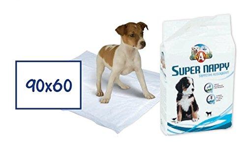 CaniAmici Tappetini Assorbenti Super Nappy 90x60 cm -...