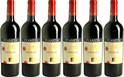 6x Merlot Sito D'ell Ulmo 2012 - Weingut Planeta, Sicilia - Rotwein