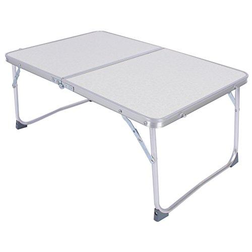 Gototop Table pliante portable pour pique-nique ou camping avec pieds en alliage d'aluminium Blanc