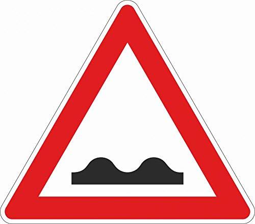 Verkehrszeichen: Querrinne oder Aufwölbung §50/1 - Aluminium | 700 mm | reflektierend | Gefahrenzeichen §50 StVO Österreich