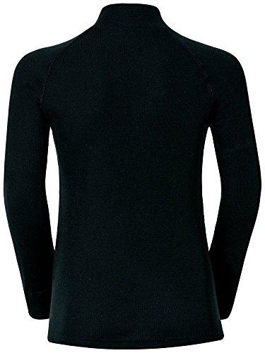 Odlo Warm T-Shirt manches longues Mixte Enfant - Noir (black) - 152 (Taille Fabricant: 152)