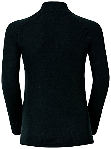 Odlo Bl Top Turtle Neck L/S Active Warm Kids Camiseta, Niños, Black, 116