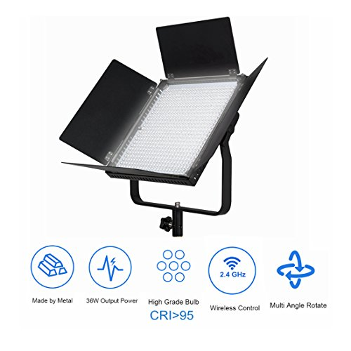 PIXEL Profesional inalámbrica LED Video Light 600 CRI95 Plus 4500 LM 3200 o 5600K para fotografía Video Lighting Studio Entrevista Retrato