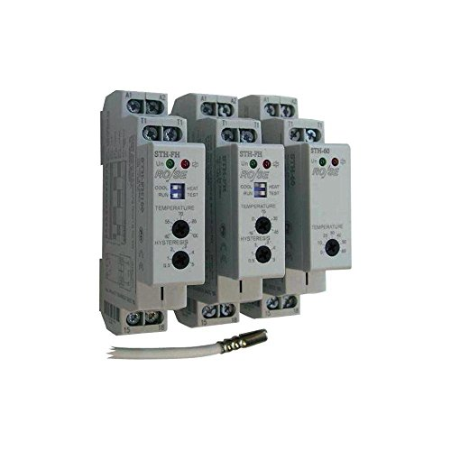 RO/SE STH-FH Schaltschrank - Thermostat -15 - +45°C mit 3m Sensor, 2 Kontakte Öffnen+Schließen