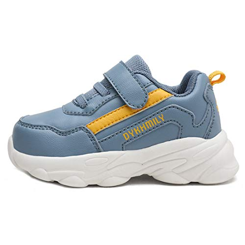 ZOSYNS Unisex Freizeitschuhe Walkingschuhe Jungen Leichtes Sportschuhe Turnschuhe für Kinder Mode Outdoorschuhe blau 21