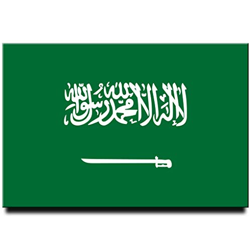 Saudi-Arabien Flagge Kühlschrankmagnet Riad Jeddah Mekka Reise Souvenir