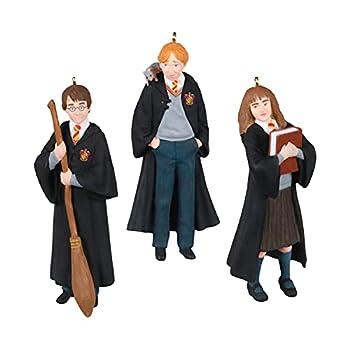 Hallmark Keepsake Christmas Ornaments 2021 Mini Harry Potter The Trio Harry Hermione and Ron Set of 3