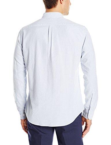 Goodthreads Men's Regular-Fit Long-Sleeve Striped Oxford Shirt, Blue/White, X-Large