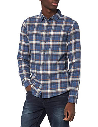 BLEND 20712866 Camisa, 194024/Dress Blues, S para Hombre