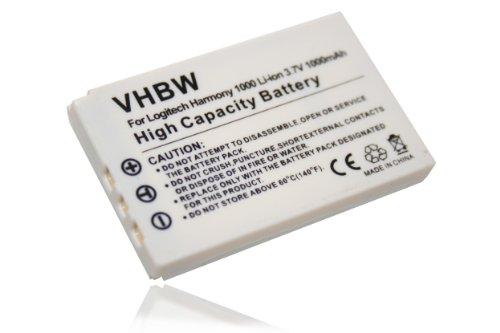 vhbw Li-Ion Akku 1000mAh (3.7V) kompatibel mit Universalbedienung, Remote Control Logitech Harmony 915, 1000, 1100, 1100i, C-LR65, C-RL65 Ersatz für K398, L-LU18.