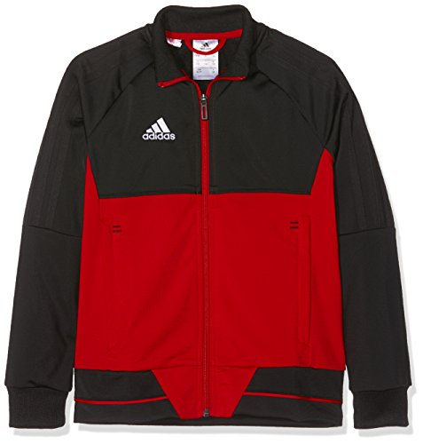 adidas Kinder Tiro 17 Trainingsjacke, Black/Scarlet/White, 140