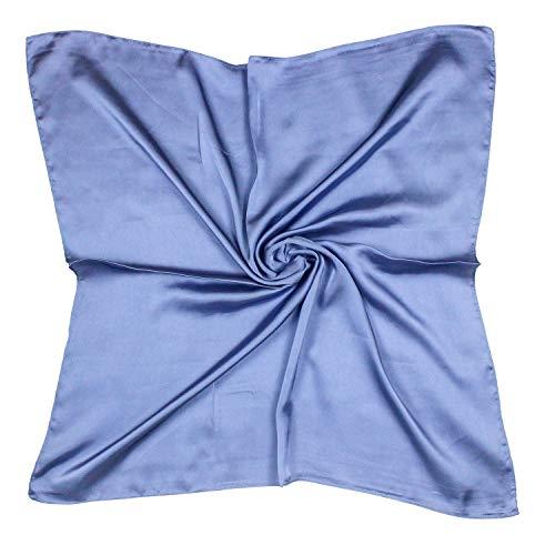 QYX Seidentuch Damen Seide Unifarben Seidenschal Bandana Halstuch Kopftuch Vierecktuch Schal Tuch Geschenk für Frauen 70 x 70 cm