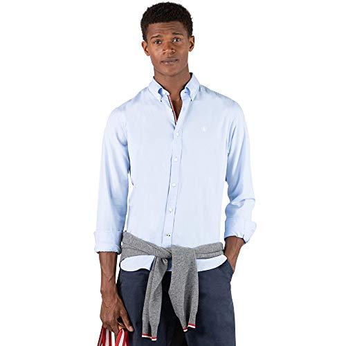 El Ganso - Colección AW19 - Camisa Oxford Lisa - para Hombre - Manga Larga - Cuello de Doble Botón