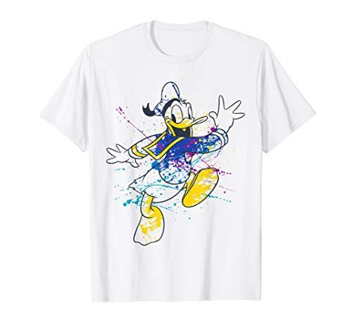 Disney Mickey And Friends Donald Duck Paint Splatter T-Shirt