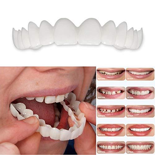 Dientes de Prótesis, Dentales Temporales Frenos Cosméticos Ajuste Instantáneo Sonrisa Perfecta Comodidad Ajuste Carillas de Dientes Flexibles Dientes Limpios y Hermosos