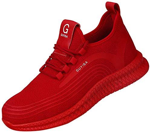 JIANYE - Zapatillas de trabajo S3 para hombre y mujer, con puntera de acero, unisex, transpirables, ligeras, color, talla 43 EU ⭐