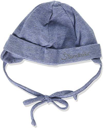 Sterntaler Beanie Hat With Turn Up Bonnet, Bleu (Jeans Mel. 340), Medium (Taille fabricant: 37) Bébé garçon