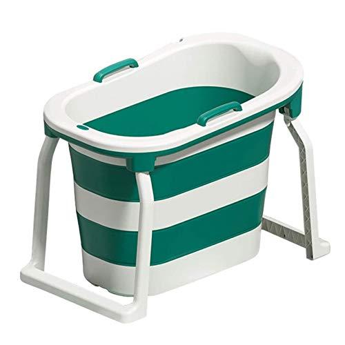 Adesign Plegables for niños Baño Baño Cubo Cubo Cubo de baño del baño del bebé Cubo Grande de Bath Niño Bebé de la Tina Tina de baño recién Nacido Piscina Cubo (Color : Green)