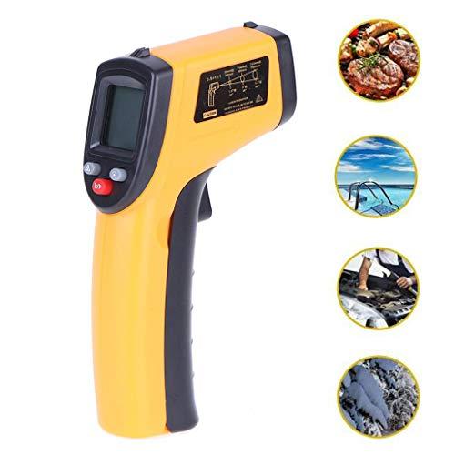 ZJM Infrarot-Thermometer -50 ℃ ~ 380 ℃ (-58 ℉ ~ 716 ℉) berührungslose Instant-Reading-Temperaturpistole LCD-Anzeige offizielle authentische Laser-Industrie-Temperaturpistole