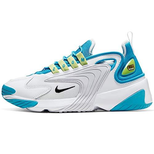 Nike Wmns Zoom 2k, Scarpa da Corsa Donna, Luce Blu Fury Nera Bianca, 40.5 EU
