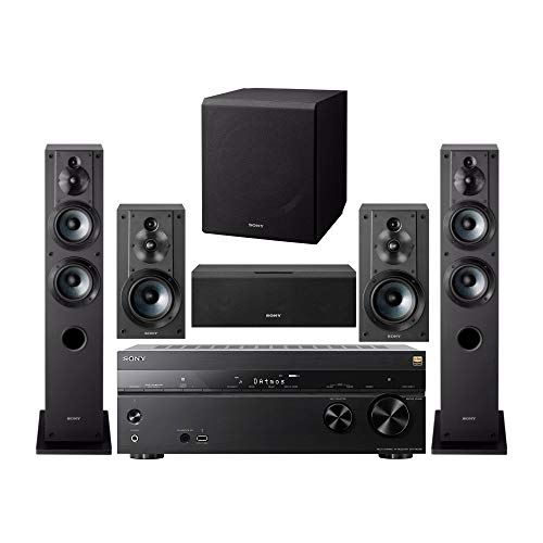 Sony 7.2 Channel 3D 4K A/V Surround Sound Multimedia Home Theater System (STRDN1080, SSCS3 (2), SSCS5, SSCS8, SACS9) (6 Items)