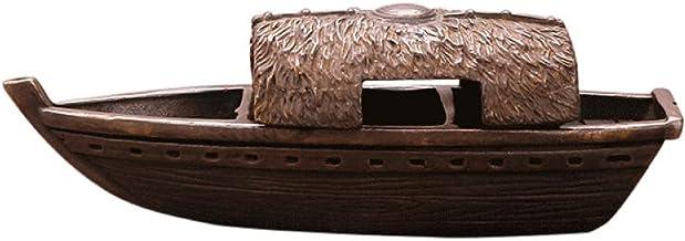 Zuiver koper vissersboot desktop ornamenten wierookbrander Zen ornamenten koper carving ambachten
