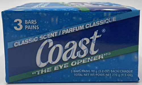 Coast Bath Bars Original Blue 3 Bar Soap, 9.5 oz