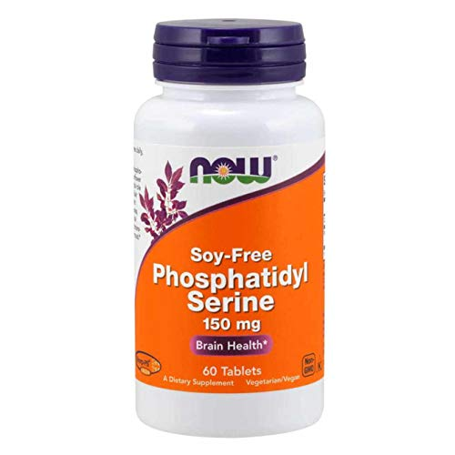 NOW Supplements, Phosphatidyl Serine 150 mg with Phospholipid compound derived from non-GMO Sunflower Lecithin, 60 Tablets