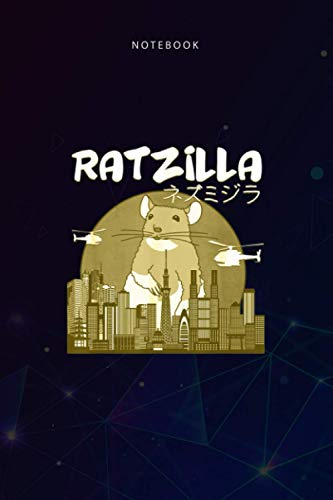 Basic 6x9 inch Lined Notebook Funny Ratzilla Japan Mouse: To Do List, 114 Pages, Teacher, Budget Tracker, 6x9 inch, Daily, Planning, Paycheck Budget