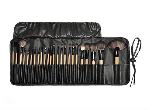 32pcs Pinceaux De Maquillage Professionnel Ensemble Make Up Poudre Brosse Beauté Outils Cosmétiques Kit Fard À Paupières Lip Brush Bag 24pcs noir