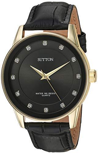 Sutton by Armitron Reloj de Vestir (Modelo: SU/5027BKGP)
