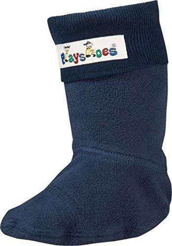 Playshoes Fleece-Stiefel-Socke, Calentadores Unisex Niños, Azul, 30/31 EU