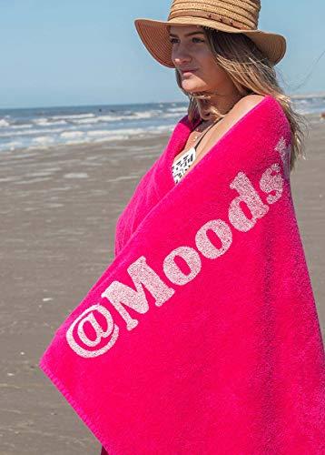 S< Telo mare con nome – stampa personalizzata – Asciugamano da sauna XXL – Telo mare 100 x 200 in cotone, 100% cotone, Rosa, 100 x 200 cm