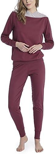 Calida Damen Soft Cotton ZWeißeiliger Schlafanzug
