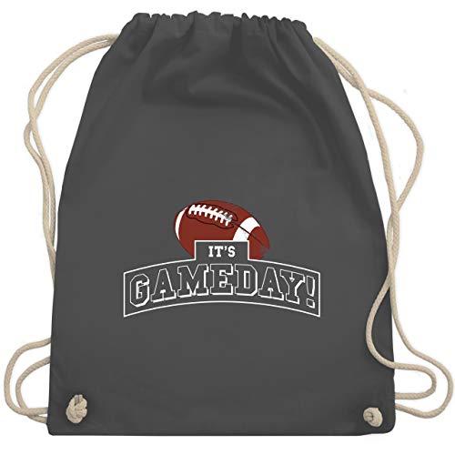 Sport Wandern Football & Co. - It's Gameday Vintage Football - Unisize - Dunkelgrau - american football geschenke - WM110 - Turnbeutel und Stoffbeutel aus Baumwolle