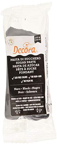 Decora 0310178 Pasta Di Zucchero Nera 100 G