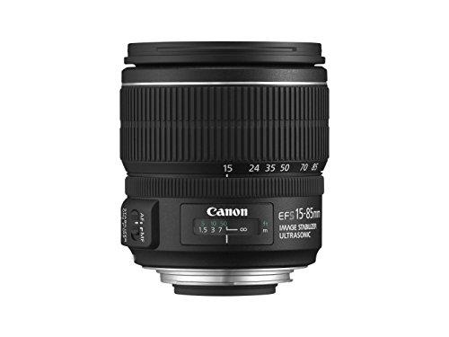 Canon Objektiv EF-S 15-85mm F3.5-5.6 IS USM Zoomobjektiv Lens für EOS (72mm Filtergewinde, Bildstabilisator, Autofokus) schwarz