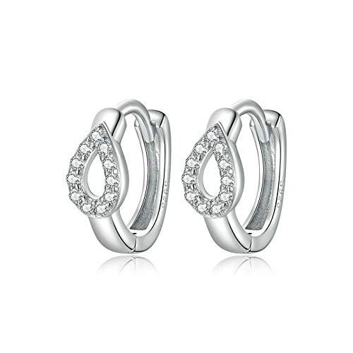 Damen Silber Ohrringe, Ohrringe Sprudel Wassertropfen Ohrringe SterlingsilberS925Zirkon Ohrringe Hypoallergene Ohrringe