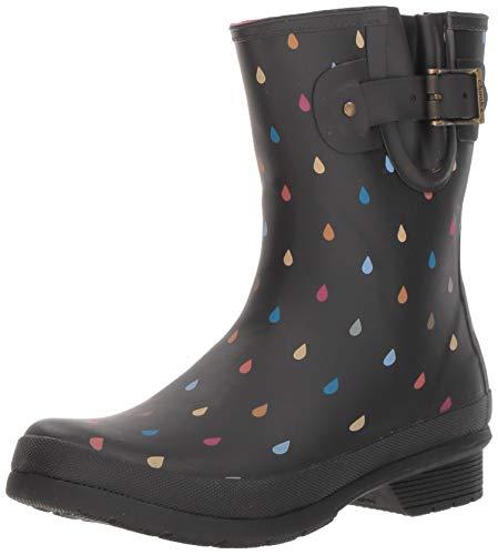 Chooka Women's Mid-Height Printed Rain Boot with Memory Foam Calf Dot, 10