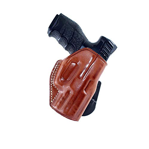 MASC Premium Leather Paddle Holster Fits Taurus PT 809 Full Size 9mm 4''BBL, Right Hand Draw, Brown Color #1366#