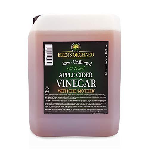 Eden\'s Orchard Apfelessig mit der Mutter – roh und ungefiltert – 5 Liter Kanister