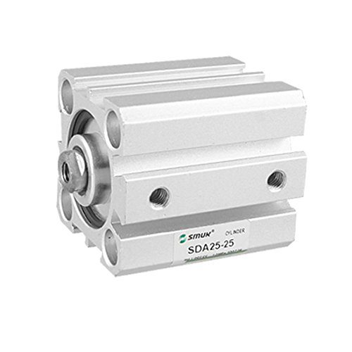 sourcing map Double Action alésage 25 mm Course 25 mm cylindre mince Air Gllom