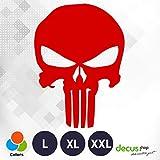 Decus Punisher Skull XL 0287 (Rojo) // Pegatina OEM JDM Style Vinyl Transfer