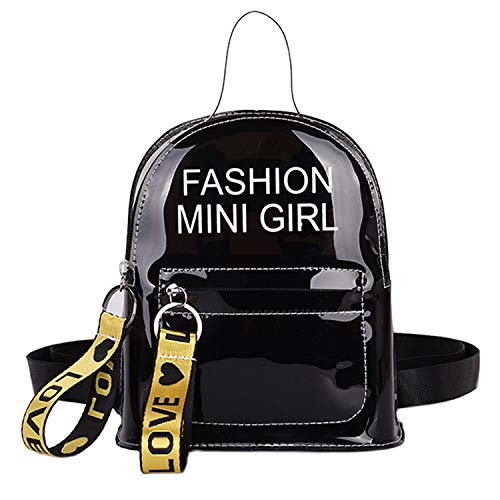 Mini Backpack Purse Stadium Approved Women Transparent Handbag Shoulder Bag