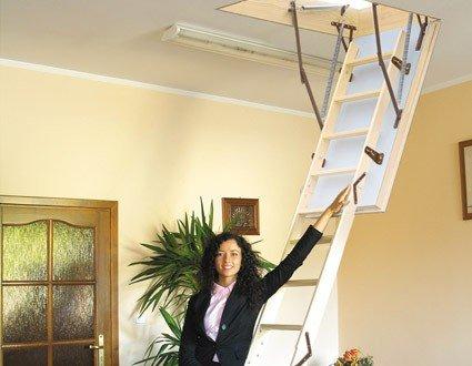Dachbodentreppe EXTREME Holz 1200x600 Bodentreppe U-Wert 0,55 W/m²K