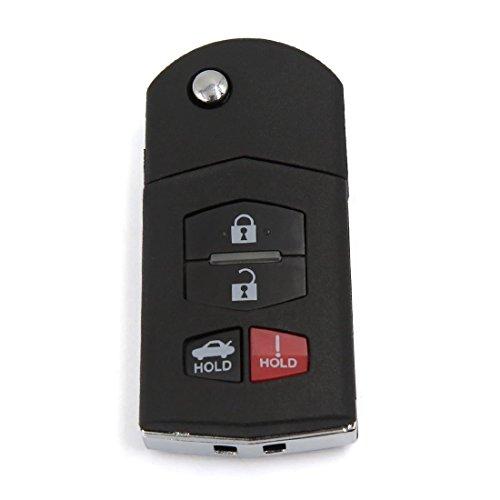 DyniLao, nueva funda inteligente con mando a distancia abatible, 4 botones para Mazda 3 5 6 RX-8 CX-7 CX-9