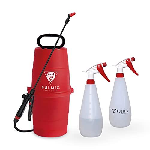 PULMIC Pack Pulverizador Agua Raptor 7 + 2 Raptor 1 de 1L. Pulverizador Herbicidas, Insecticidas y Fungicidas. Lanza en Fibra de Vidrio. hasta 7L. con Bomba de Presión
